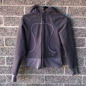 Lululemon striped zip up hoodie size 4